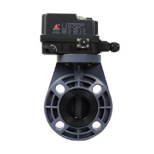 Sch 80 PVC Electric Butterfly Valves