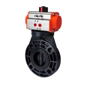 Sch 80 PVC Pneumatic Butterfly Valves