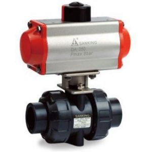 Sch 80 PVC Pneumatic Ball Valves
