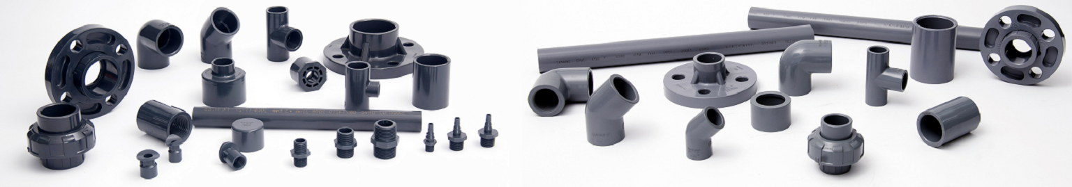 Selection of PVC and CPVC fittings
